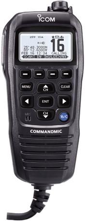 Icom HM195GB Commandmic voor Icom M423GE/M506GE/M510E - Zwart