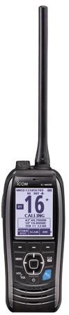 Icom M93D DSC/GPS Handmarifoon - krachtige 1850mAh Lithium-Ion batt.