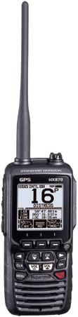 Standard Horizon HX890E DSC/GPS Handmarifoon - Drijvend- 6W - MOB functie kleur zwart