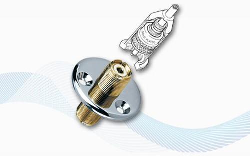 Glomex RA105 dekdoorvoer Gold plated voor marifoon antennekabel RG58 - PL259