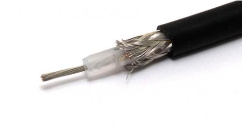 Coaxkabel RG58 marifoon antennekabel - 50 Ohm - 5.0mm - zwart
